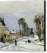 The Versailles Road At Louveciennes Canvas Print