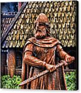 The Viking Warrior Statue  Canvas Print by Lee Dos Santos