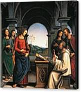The Vision Of St Bernard Canvas Print