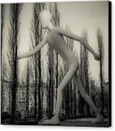 The Walking Man - Bw Canvas Print by Hannes Cmarits