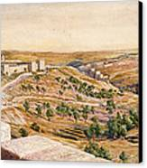 The Walls Of Jerusalem, 1869 Canvas Print by William Holman Hunt