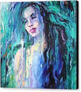 The Water Canvas Print by Nelya Shenklyarska
