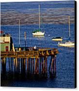 The Wharf Canvas Print by Tom Kelly
