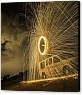 The Windmill Steel Wool Canvas Print by Israel Marino
