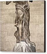The Winged Victory Of Samothrace Marble Sculpture Of The Greek Goddess Nike Victory Canvas Print