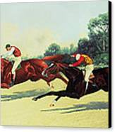 The Winning Post In Sight Canvas Print by Henry Stull
