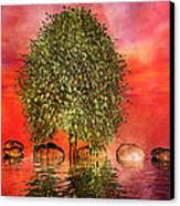 The Wishing Tree One Of Two Canvas Print by Betsy Knapp