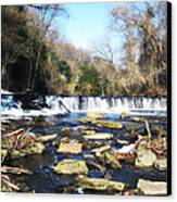 The Wissahickon Creek In February Canvas Print