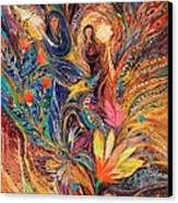 The Women Of Tanakh - Miriam With Timbrels Canvas Print by Elena Kotliarker
