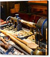 The Woodworker Canvas Print by Paul Ward