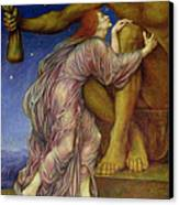 The Worship Of Mammon Canvas Print by Evelyn De Morgan