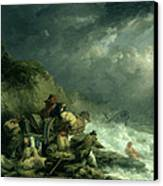 The Wreckers Canvas Print by George Morland