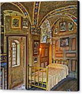 The Yellow Room At Fonthill Castle Canvas Print by Susan Candelario