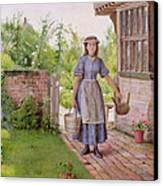 The Young Milkmaid Canvas Print by George Goodwin Kilburne