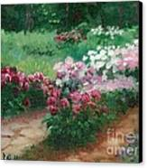 Thelma Steel's Garden Canvas Print by Ron Bowles