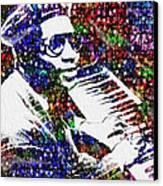 Thelonious Monk Canvas Print by Jack Zulli