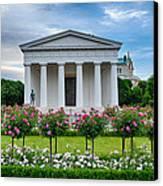 Theseus Temple In Roses Canvas Print by Viacheslav Savitskiy