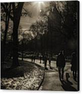They Come To Central Park Canvas Print