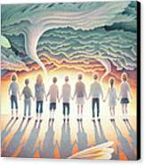 They Stand Resolute Canvas Print by Amy S Turner