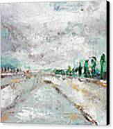Thinking About Winter In Summer Time 1 Canvas Print by Becky Kim