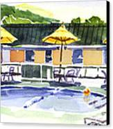 Three Amigos With Orange Beach Ball Canvas Print by Kip DeVore