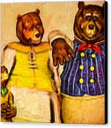 Three Bears Family Portrait Canvas Print by Bob Orsillo