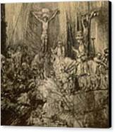 Three Crucifixes Canvas Print by Rembrandt Harmenszoon van Rijn