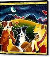 Three Dog Night Canvas Print by Harriet Peck Taylor