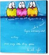 Three Little Birds Canvas Print by Lucia Stewart