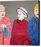 Three Mongolians Canvas Print