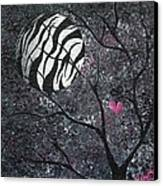 Three Moons Series - Zebra Moon Canvas Print by Oddball Art Co by Lizzy Love