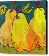 Three Pears Art  Canvas Print by Blenda Studio