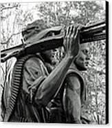 Three Soldiers In Vietnam Canvas Print by Cora Wandel