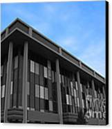 Three Story Selective Color Building Canvas Print