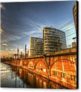 Three Towers Berlin Canvas Print by Nathan Wright
