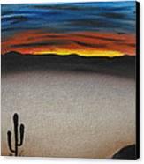 Thriving In The Desert Canvas Print by Sayali Mahajan