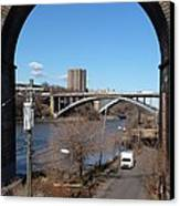 Through The Highbridge Canvas Print by Steve Breslow