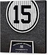 Thurman Munson Canvas Print by Andrew Romer