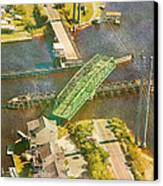 Ti Swingin' Swing Bridge Canvas Print by Betsy Knapp