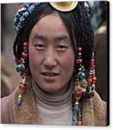 Tibetan Beauty - Kham Canvas Print by Craig Lovell