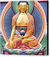 Tibetan Buddhist Deity Wall Sculpture Canvas Print