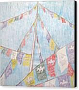 Tibetan Flags Canvas Print by Elizabeth Stedman
