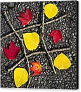 Tic-tac-toe Canvas Print by Christina Rollo