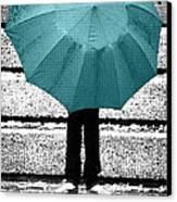 Tiffany Blue Umbrella Canvas Print