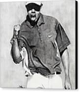 Tiger Woods Pumped Canvas Print by Devin Millington