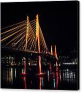 Tilikum Crossing Flooded With Light Canvas Print by John Magnet Bell