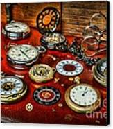 Time - Pocket Watches  Canvas Print by Paul Ward