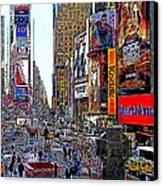 Time Square New York 20130503v4 Canvas Print