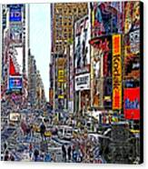 Time Square New York 20130503v7 Canvas Print by Wingsdomain Art and Photography