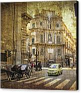 Time Traveling In Palermo - Sicily Canvas Print by Madeline Ellis